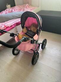 Doll pushchair