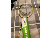 Badminton racket and cock shuttles