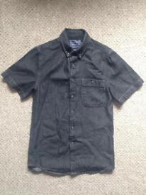 Topman Short Sleeve Denim Shirt (XS)