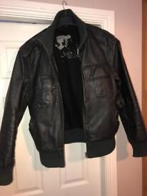 Men's next leather jacket size Large