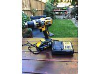 DeWalt Xr Brushless Hammer Drill 18v Battery and Charger