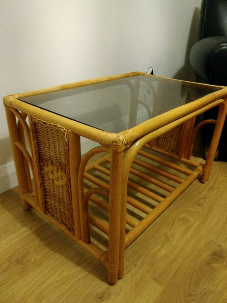 Small wood / glass table