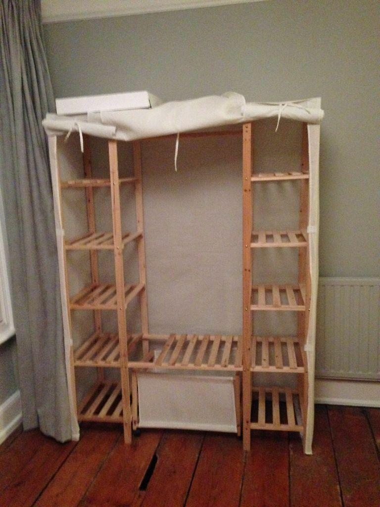 Pull Out Table >> Wardrobe (wood and material) | in Taunton, Somerset | Gumtree