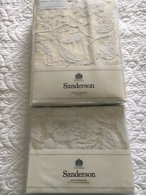 **Brand New **Cream Sanderson Pyramus double duvet and pillow cases