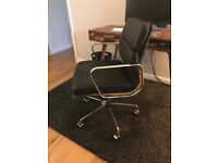 Eames Replica Management Office Chair - Black Leather