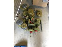 Selection of barbell weights