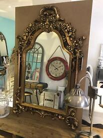 Gold Ornate Mirror (new)