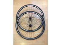 Rigida Nova 700C wheelset (from and rear), rims with tubes, tires and quick release bolts