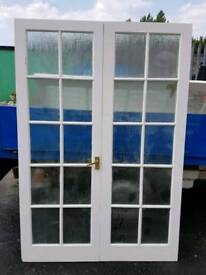 12 glass panel internal double doors