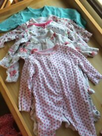 Newborn/first size baby girl clothes