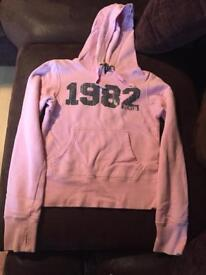 Pink bench hoodie size small