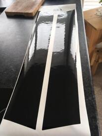 R53 Black Mini Bonnet Stripes