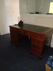 Antique Marvellous Wooden Base Office Desk with 7 drawers