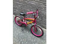 """18"""" wheel girls bike bicycle pink"""