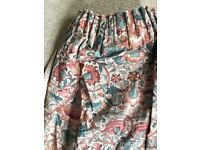 Liberty fabric 'William Morris' pair of lined curtains
