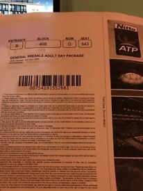 2 ATP day one tickets