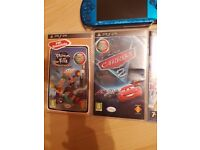 PSP 3000 Metallic Blue With 3 Top Games