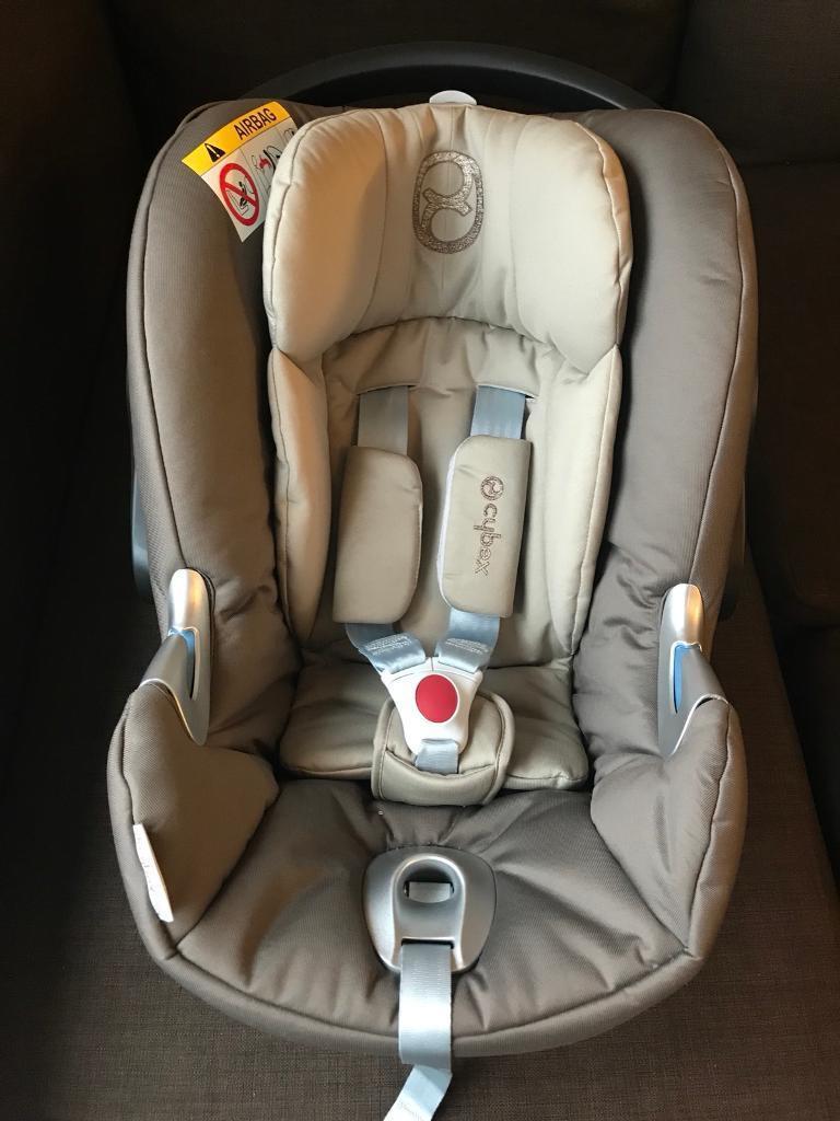 CYBEX ATON Q BABY CAR SEAT LIKE NEW CLOUD MAXI COSI PEBBLE CABRIOFIX SILVER CROSS BUGABOO