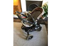iCandy peach pushchair buggy and raincover