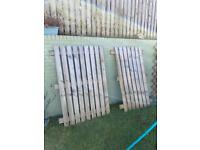 2 x fence panels plus fence off cuts, 2 posts .
