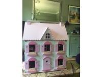 ELC Rosebud Dolls House with furniture and figures
