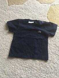 Boys navy Lacoste t shirt size 1