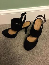 Black stiletto sling backs size 4