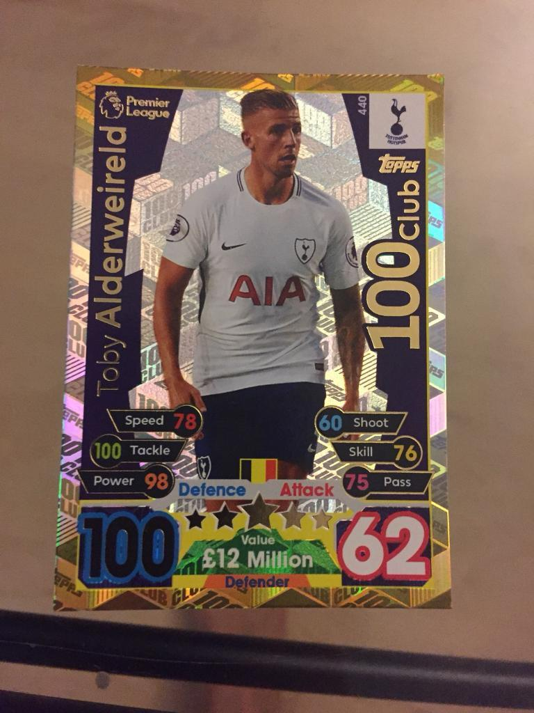 Toby Alderweireld Match Attax NEW