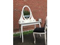 Dressing table and shabby Chic vintage chair