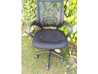 Black mesh office/computer chair
