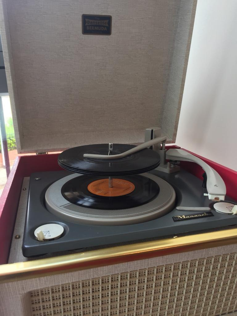 Original 1960s Dansette Bermuda Record player