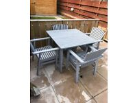 Gray garden furniture