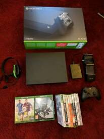 Xbox One X with extra 2tb hdd and games and accessories