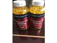 Simply supplements cod liver oil 1000 mg tablets