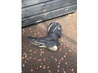 Motorbike front and rear stands motorbike boots size 11