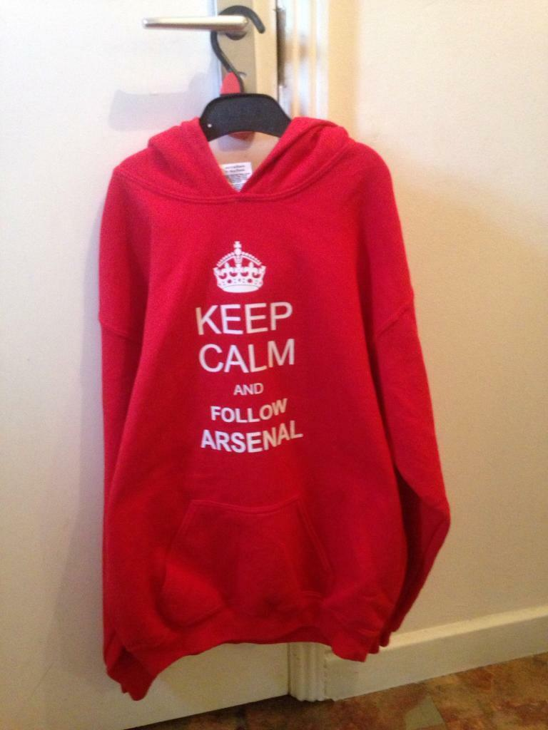 75f624202 Red keep calm and follow arsenal hoodie size xl youth