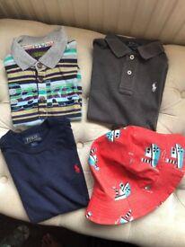Boys Tops Age 3-4 years Original Branded. 2 Ralph Lauren, 1 Ted Baker & 1 Hat. Paid £24 each.