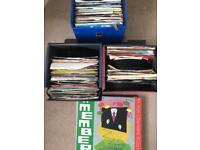 Vinyl single and 50 lp mixed 60/ 70/ 80 music