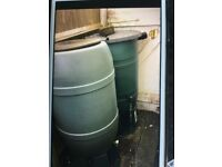 2 water butts for sale