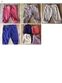 4 x Baby Girl Jogging Bottoms