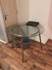 Round glass ikea table