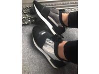 BNIB black and silver Balenciaga style trainers