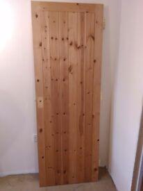 Pine framed ledge and brace door