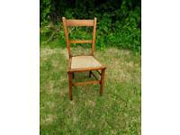 Bedroom chair with cane seat