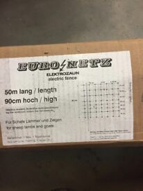 electric stock fencing £50 per 50mtr roll, made in Germany, 5 available, used once for 5 day show