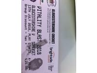T20 Gloucester v Somerset Tickets today's game