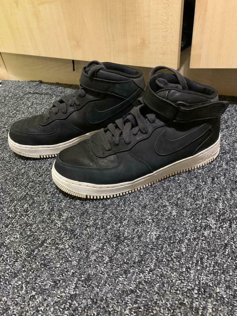 info for d8f70 84d96 Nike iD Air Force 1 Black Mid