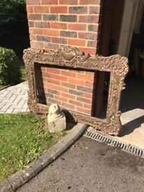 Wood antique frame (french)
