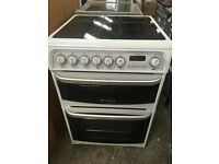 Cannon Kendal 60cm Ceramic top,Double Oven White