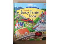 *Brand New * Usborne Pull Back Busy Train Book